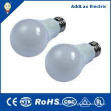 CE UL 220V E27 Blanc chaud 5W LED ampoule