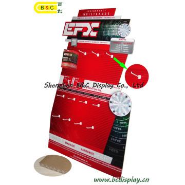 Exhibición de papel del estallido de la cartulina de los ganchos para la cartelera publicitaria, exhibición de la cartulina, exhibición acanalada, soporte de exhibición de papel, exhibición de piso del gancho de la cartulina (B & C-E001)