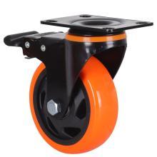 Rodízios de travamento giratório Rodas de rodízio para serviços pesados