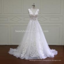 XF16012 sexy nouvelle arrivée v décolleté dubai design alibaba robes de mariée