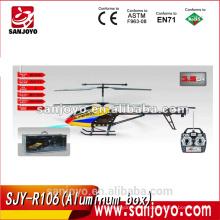 La caja de aluminio SJY-R106 embaló el helicóptero inalámbrico del rc del metal de 3.5 canales con el girocompás
