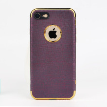 2017 newest electroplate and TPU leather phone case for iphone 7