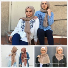 Top selling Trend women nice lifestyle stylish muslim scarf bubble hijab