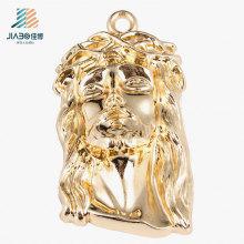 Nouveau pendentif personnalisé de Jésus d'or de zinc de conception en métal pour le cadeau