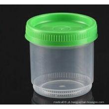 Recipiente de espécime de análise de urina de 90 ml registrado com estereteria com esterilidade