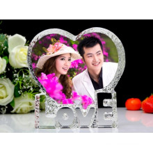 Beautiful and Color Printing Crystal Glass Photo Frame