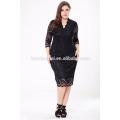 Proveedor chino de ropa de alta calidad 6xl mujeres más vestido de tamaño 2017 Vestido de encaje negro