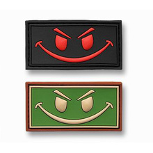 Square fashionable nice customized rubber patch shaped for bags/apparel