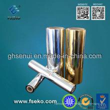 MPET Película metalizada Golden Color (24mic) para cajas de cosméticos