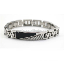 Diamond Enamel Metal Tag Bracelet For Men