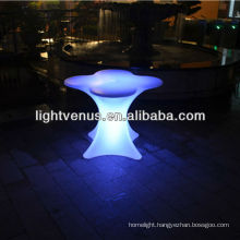 50 meters Ipad control factory direct sale color changing rechargeable outdoor furniture led plastic bar table