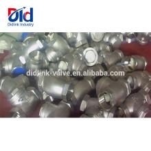 Fonction d'un piston Type US Liquide sanitaire Acier inoxydable Filetage Balançoire 1 2 Pouces Clapet anti-retour Gaz