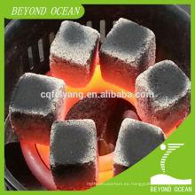 Carbón de cáscara de coco 100% natural para barra de shisha