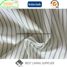 100 Polyester Men′s Suit Sleeve Lining Black and White Stripe Lining Fabric