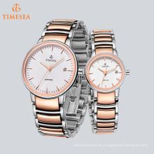 Mens Ladys Luxo Presente Casal Relógio De Pulso De Quartzo Analógico 70042