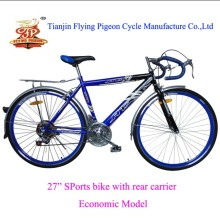 "Economic Mountain Bicycle Steel 27"" Road Bike"