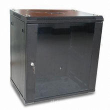 Luxury Wall-mounted Network Cabinet, Made of SPCC High-quality Cold Rolled Steel
