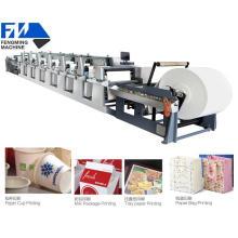 Máquina de impresión de flexografía de papel laminado