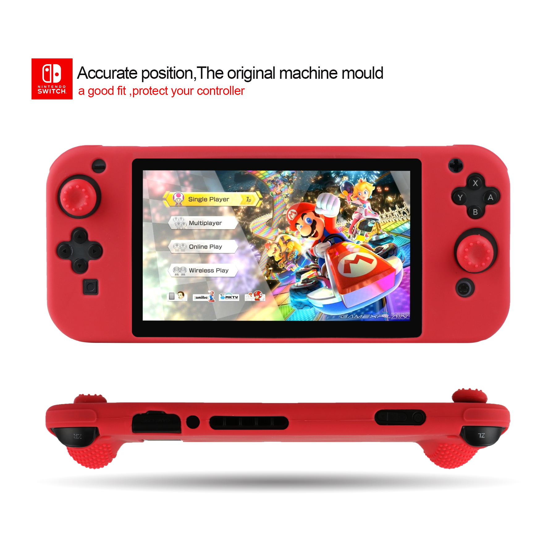 switch red color silicone cover