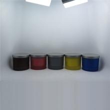 Vela de vidro para decoração de suporte de vidro em formato quadrado