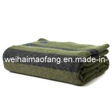 100% шерсть военной /Army атласное шерстяное одеяло