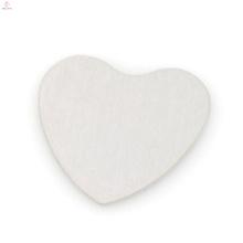 Atacado barato placa de aço inoxidável coração, placa de prata para medalhão flutuante, sem medalhão