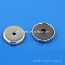 Aimants en céramique ronde en ferrite haute qualité avec trous