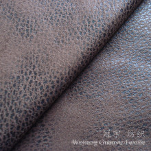 Micor Suede Nucbuck Leather Fabric with Bronzing Treatment