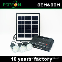 4W panel kit 3000mah lithium battery home solar led kit
