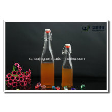 250ml 500ml Square Swing Top Glass Juice Bottles