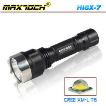 Maxtoch HI6X-7 acero ataque cabeza LED linterna 18650