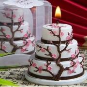 Velas decorativas de casamento de aniversário