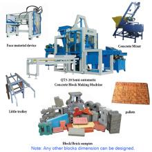 Qt3-20 Semi-Automatic Concrete Simple Brick Production Line