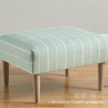 Tissu 100% de polyester de Linentte de toile d'impression pour des couvertures de sofa