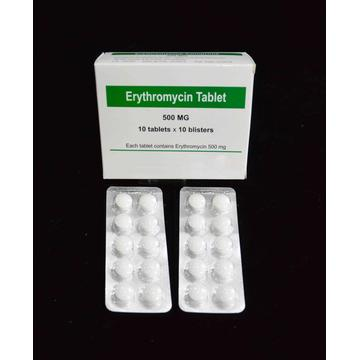 Short Lead Time for for β-lactam Antibiotics,Macrolide Antibiotics,Aminoglycoside Antibiotics,Quinolone Antimicrobial Supplier Erythromycin 500MG Tablet Enteric-coated export to Saint Vincent and the Grenadines Suppliers