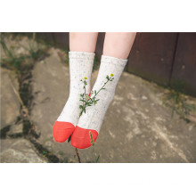 Colored Cotton Yarn Bright Color Girl Cotton Socks