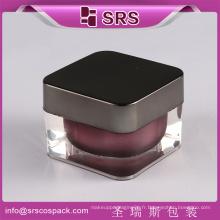 SRS Cosmetic Empty Jars, vente de résine acrylique et pot de haute qualité pour soins de la peau et de la crème pour le visage