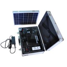 Kit de gerador de sistema de banco de energia solar portátil pequeno para casa interior e exterior