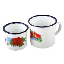 8cm Enamel Mug with Ss Rim