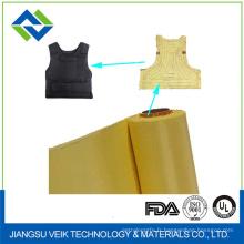 Tissu d'armure simple de tissu de fibre d'Aramid pour le gilet pare-balles