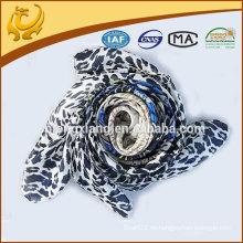 China-Fabrik-Türkei-Art-Leopard druckte türkischen quadratischen Schal-Großverkauf