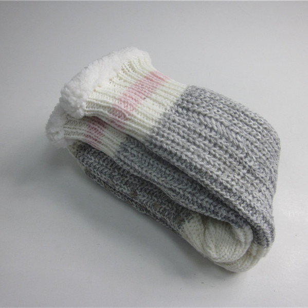 Fashion Chunky Knitting Slipper Socks