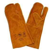 Guantes de los guantes de los guantes de cuero del cuero de la seguridad de Gaozhou, China