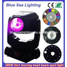 Super 280w Robe Osram 10R feixe spot lavar 3 em 1 luz da cabeça em movimento