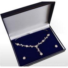 Caja de plata del collar / caja de la pera del collar (MX-284)