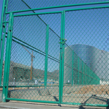 Green Color PVC Coated Chain Link Fence