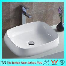 Новый дизайн Тонкий край керамической ванной умывальник