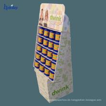 Drei Schichten Karton Supermarkt Display Regal für Shampoo, Werbung Display