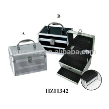 2014 fashionale aluminum vanity case with a tray&drawer inside