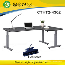 3 Legs Electirc Height adjustable desk base & L shape height adjustable desk with motor